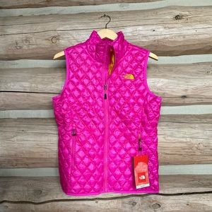 The Northface pink vest